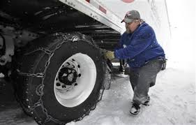 winter weather chains for tractor-trailers