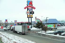 trucker stops and fuel