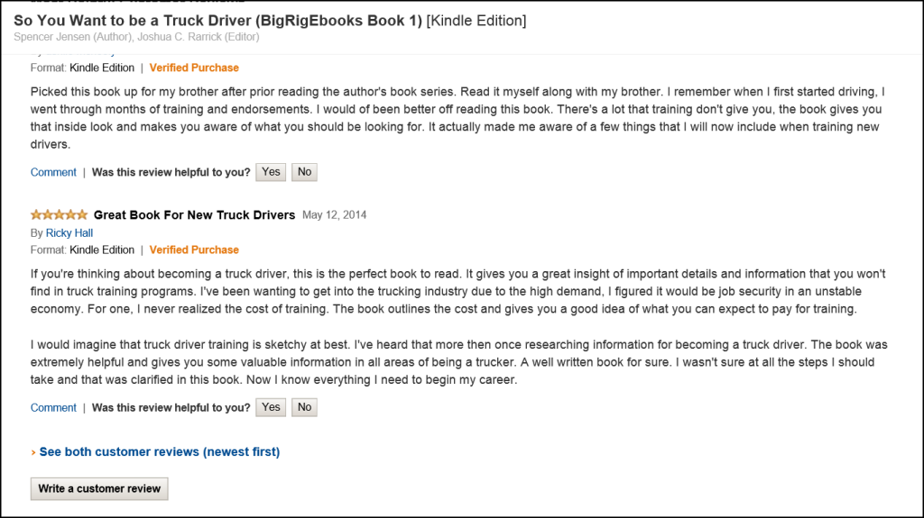 Reviews From Big Rig Ebooks