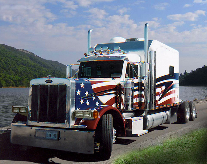Peterbilt American Themed Demi Truck
