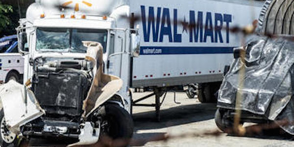Kevin Roper's Walmart Truck After Accident