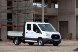 New '2-tonne' Ford Transit – American styling, but a solid workhorse – shown as a crew cab dropside.