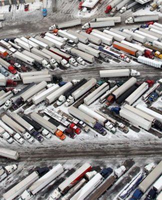 Truck Driver Parking