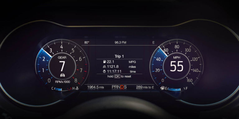 2018 Mustang Dashboard Display